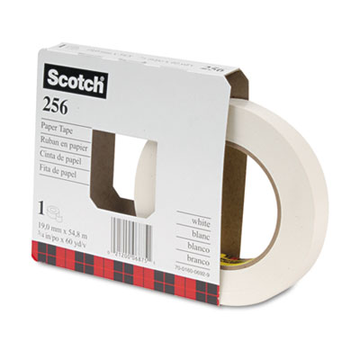 "256 Printable Flatback Paper Tape, 3/4"" x 60yds, 3"" Core"
