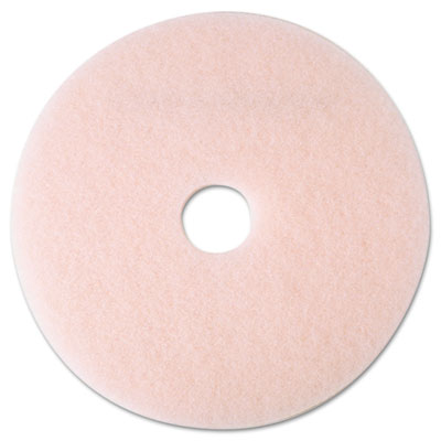 "Eraser Burnish Floor Pad 3600, 19"", Pink, 5/Carton"
