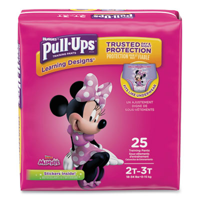 Pull-Ups Learning Designs Potty Training Pants for Girls Size 2T-3T 25/Pack 45132