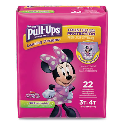 Pull-Ups Learning Designs Potty Training Pants for Girls Size 3T-4T 22/Pack 45140