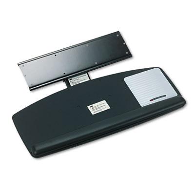 Knob Adjust Keyboard Tray With Standard Platform, 25-1/5w x 12d,