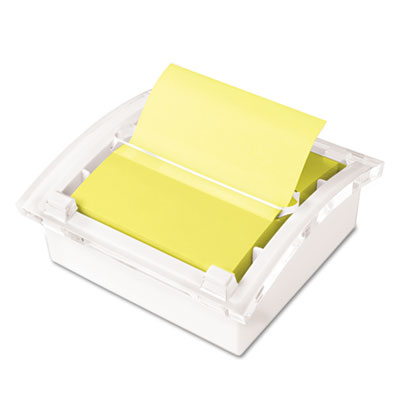 Clear Top Pop-up Note Dispenser for 3 x 3 Self-Stick Notes, Whit