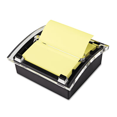 Clear Top Pop-up Note Dispenser for 3 x 3 Self-Stick Notes, Blac