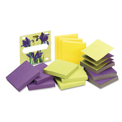 3D Pop-Up Disp Notes Refill, 3 x 3, Three Colors, 12 90-Sheet Pa