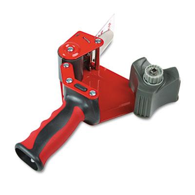 "Pistol Grip Packaging Tape Dispenser, 3"" Core, Metal, Red"