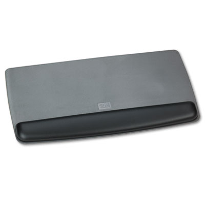 3M Gel Professional ll Series Keyboard Wrist Rest, Black/Metalli