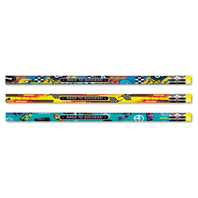 Decorated Pencil, Race to Success!, HB, 2.1 mm, Assorted Barrel,