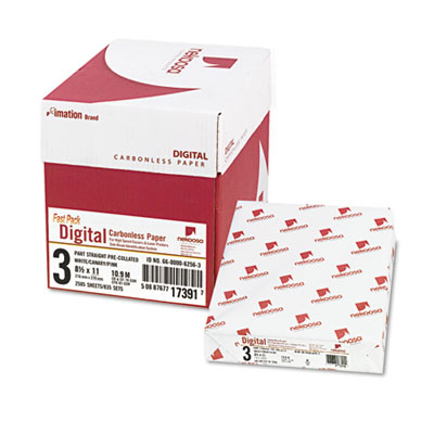 Fast Pack Digital Carbonless Paper, 8-1/2 x 11, White/Canary/Pin