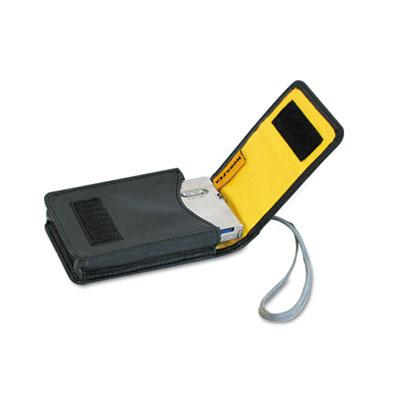 AC158 Digital Camera Case, Simulated Leather, 2 3/5 x 1 x 4, Bla
