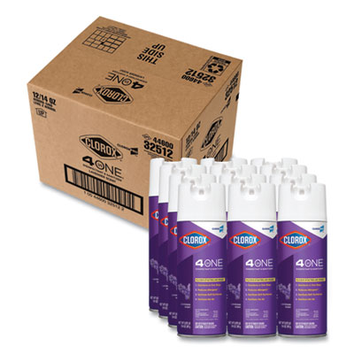 4 in One Disinfectant and Sanitizer, Lavender, 14 oz Aerosol Spray, 12/Carton
