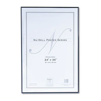 Nud31242 Metal Poster Frame, Plastic Face, 24 X 36, Black   , Black