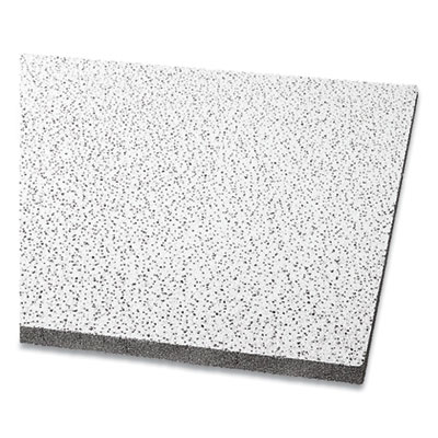 """Fine Fissured Acoustical Infill Ceiling Tiles Non-Directional Square Lay-In 0.94"""" 24"""" x 48"""" x 0.75"""" White 8/Carton 1714"""