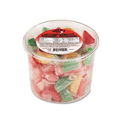 Assorted Fruit Slices Candy, Individually Wrapped, 2 lb Plastic