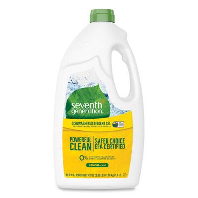 Natural Automatic Dishwasher Gel Lemon 42 oz Bottle 6/Carton SEV22171