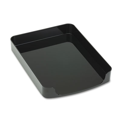 2200 Series Front-Loading Desk Tray, Plastic, 8 1/2 x 11, Black