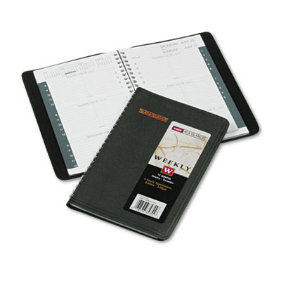 Recycled Weekly Appointment Book, 4-7/8 x 8, Black, 2015