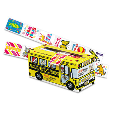 Big School Bus Reward Stickers, Assorted Designs, 800 Stickers p