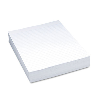 "Composition Paper, 3/8"" Ruling, 16 lbs., 8-1/2 x 11, White, 500"