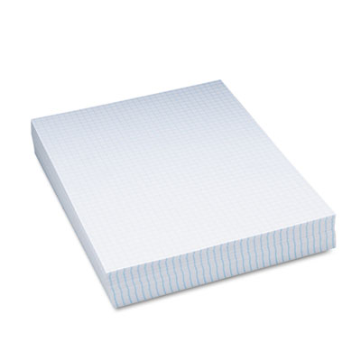 "Composition Paper, 1/4"" Quadrille, 16 lbs., 8-1/2 x 11, White, 5"