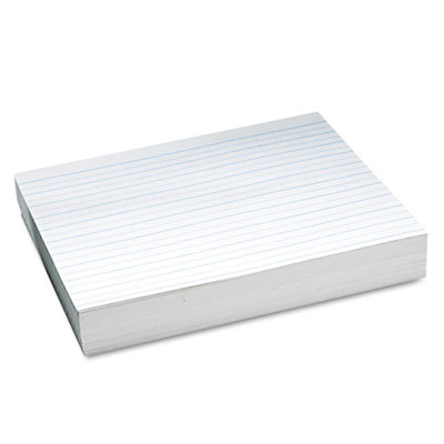 "Alternate Dotted 3/4"" Ruled Newsprint Paper, 11 x 8-1/2, White,"