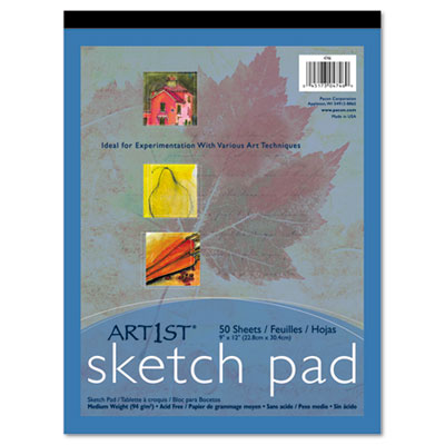 "Art1st Sketch Pad, 60-lbs. Heavyweight Drawing Paper. 9"" x 12"","
