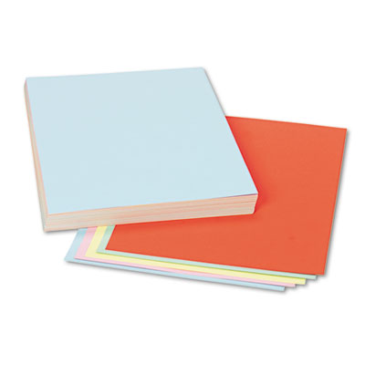 Assorted Colors Tagboard, 12 x 9, Blue/Canary/Green/Orange/Pink,