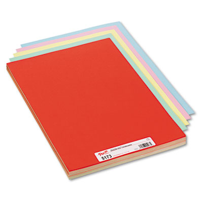 Assorted Colors Tagboard, 18 x 12, Blue/Canary/Green/Orange/Pink