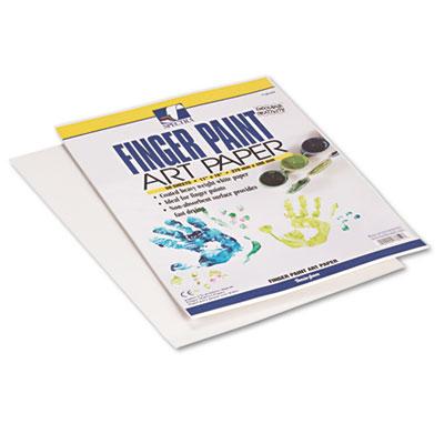 Fingerpaint Paper, 50 lb, 11 x 16, White, 50 Sheets/Pack