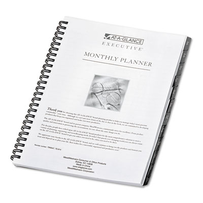 Executive Recycled Monthly Planner Refill, 6-7/8 x 8-3/4, 2015