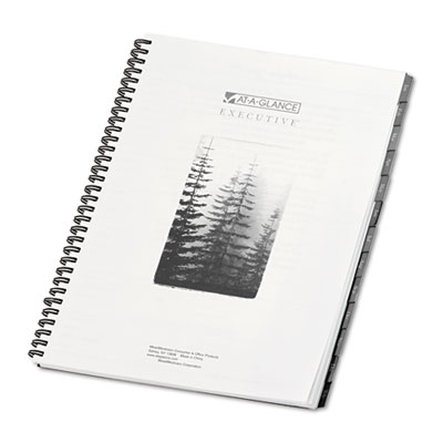 Executive Recycled Fashion Weekly/Monthly Planner Refill, 8 1/4