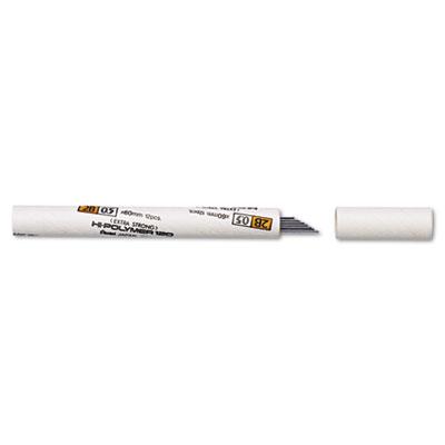 Premium Hi-Polymer Lead Refills, 0.5mm, 2B, Black, 12 Leads/Tube