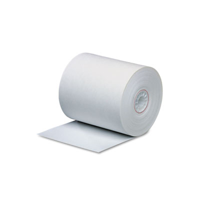 """Single-Ply Thermal Cash Register/POS Rolls, 3-1/8"""" x 273 ft., Wh"""