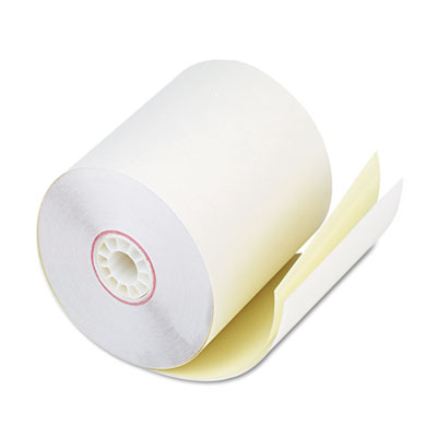 "Two-Ply Receipt Rolls, 2-3/4"" x 90 ft, White/Canary, 50/Carton"