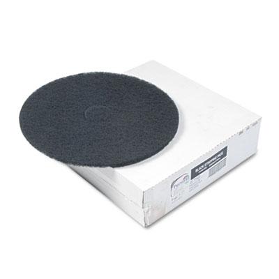 "Standard Floor Pads, 20"" dia, Black, 5/Carton"