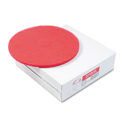 "Standard Floor Pads, 20"" dia, Red, 5/Carton"