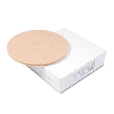 "Ultra High-Speed Floor Pads, Ultra Champagne, 20"" dia, 5/Carton"