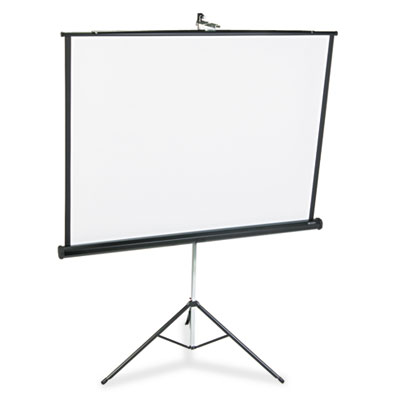 Portable Tripod Projection Screen, 60 x 60, White Matte, Black S
