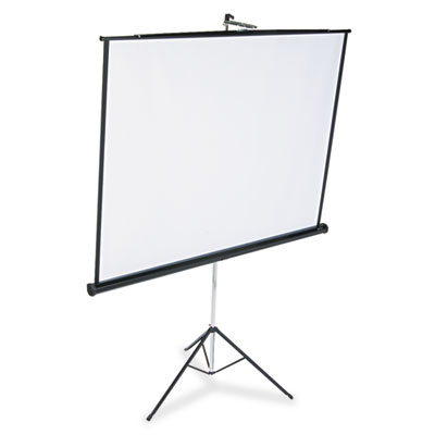 Portable Tripod Projection Screen, 70 x 70, White Matte, Black S