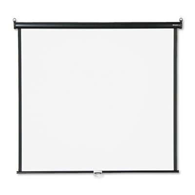 Wall or Ceiling Projection Screen, 60 x 60, White Matte, Black M