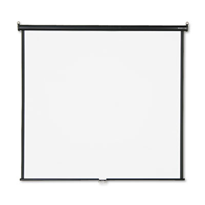 Wall or Ceiling Projection Screen, 70 x 70, White Matte, Black M