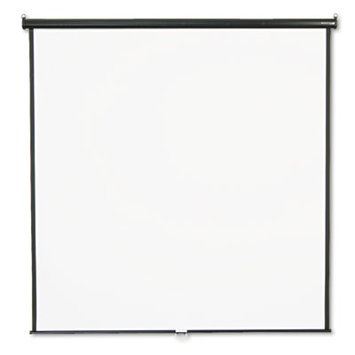 Wall or Ceiling Projection Screen, 84 x 84, White Matte, Black M