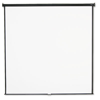 Wall or Ceiling Projection Screen, 96 x 96, White Matte, Black M