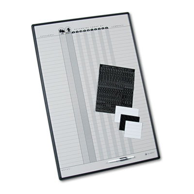 Quartet Magnetic Employee In/Out Board, Porcelain, 24 x 36, Gray/Black Aluminum Frame at Sears.com