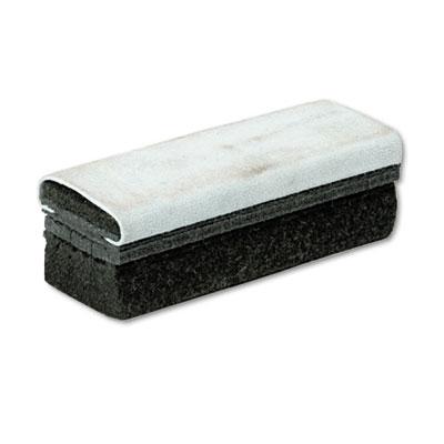 Deluxe Chalkboard Eraser/Cleaner, Laminated Felt, 6w x 2d x 1 5/