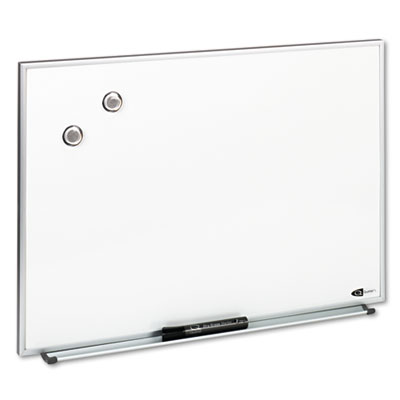 Magnetic Dry Erase Board, Painted Steel, 23 x 16, White, Aluminu