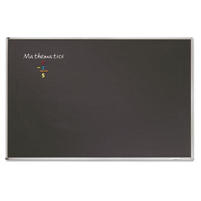 Porcelain Black Chalkboard w/Aluminum Frame, 48 x 36, Silver