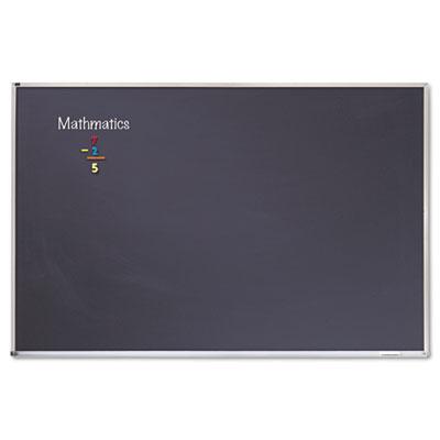 Porcelain Black Chalkboard w/Aluminum Frame, 48 x 96, Silver