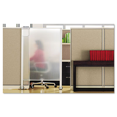 Premium Workstation Privacy Screen, 38w x 65d, Translucent Clear
