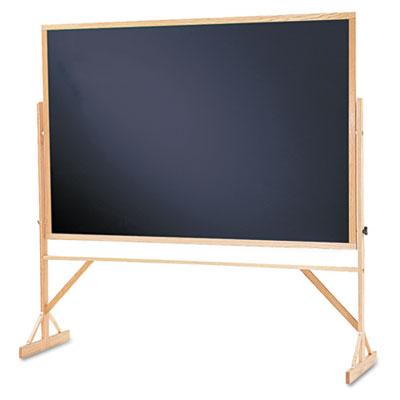 Reversible Chalkboard w/Hardwood Frame, 48 x 72