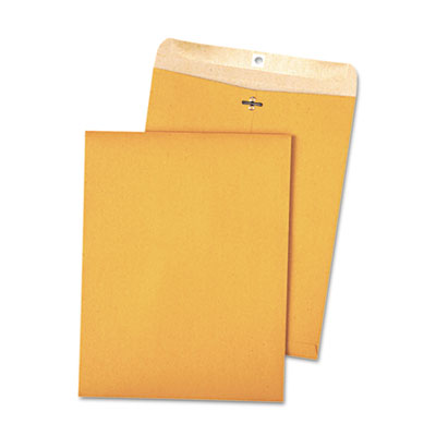 100% Recycled Brown Kraft Clasp Envelope, 9 x 12, Brown Kraft, 1